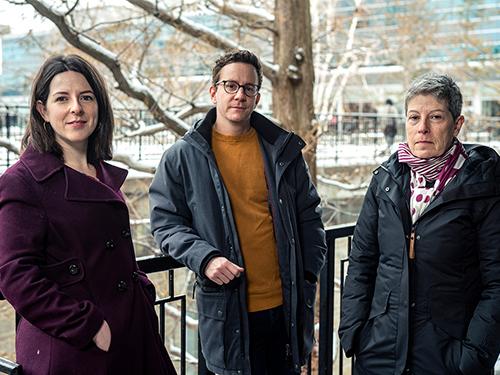 Profs. Rachel Burns, Chris Webb, and Anne Bowker, who organized the series alongside Hugill