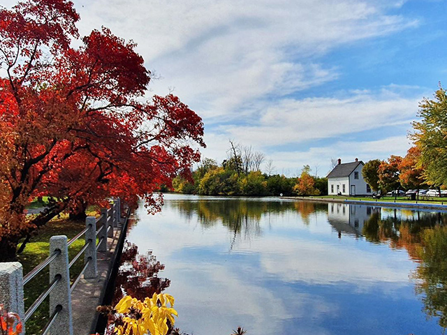 Carleton University and the Rideau River