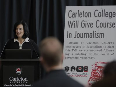 Photo thumbnail for the story: Carleton Journalism Turns 70