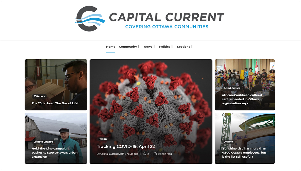 A screenshot of the Capital Current website