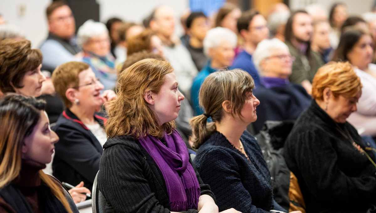 The audience during Senator Kim Pate's Bell Lecture.