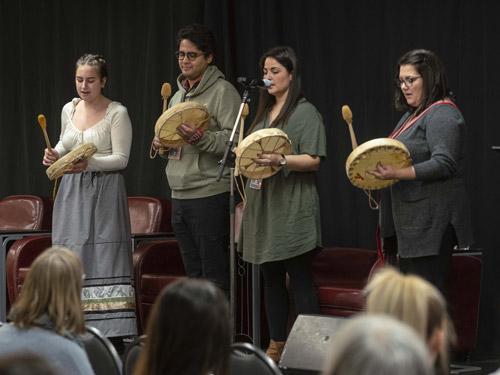 Indigenous drummers