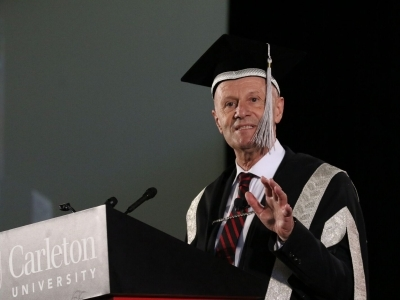 Photo for the news post: Carleton Opens Spring Convocation 2018
