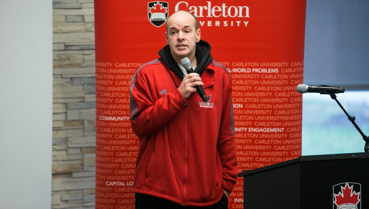 Dave Smart, head coach of the Carleton Ravens men's basketball team