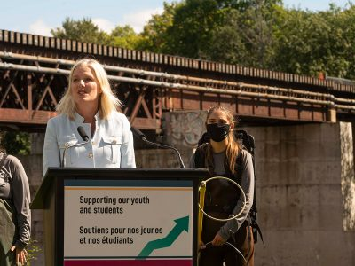 Photo for the news post: Minister Catherine McKenna Announces New Job Funds for Canadian Youth at Carleton