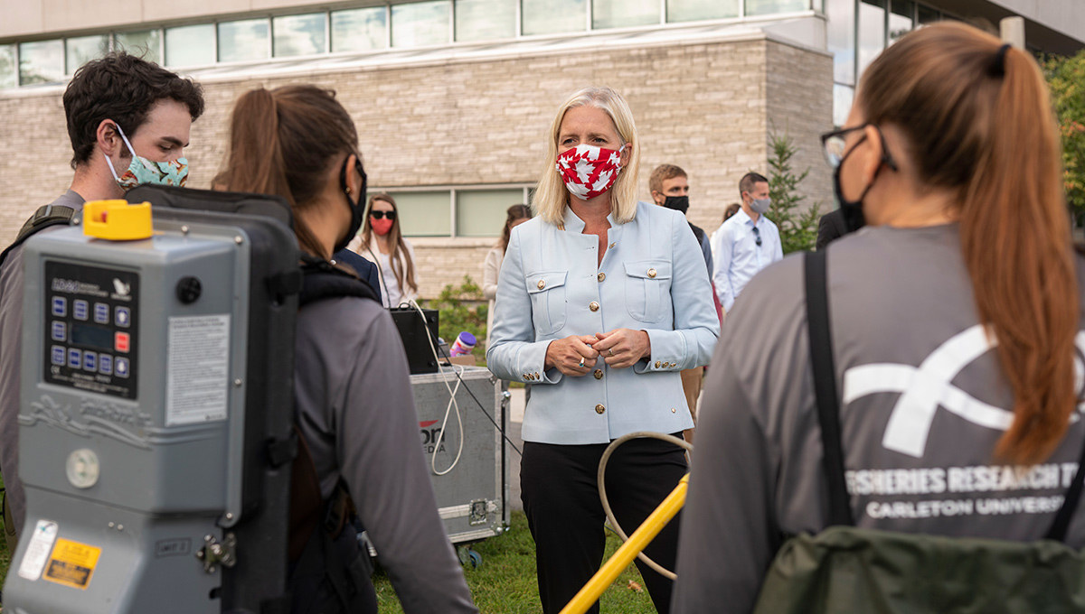 Minister Catherine McKenna Announces New Job Funds for Canadian Youth at Carleton
