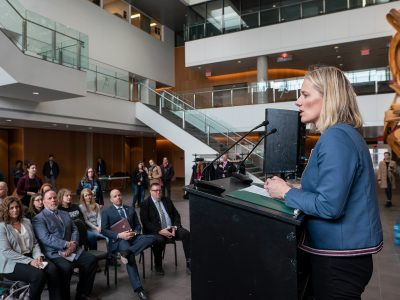Photo for the news post: Minister McKenna Talks Sustainability at Carleton
