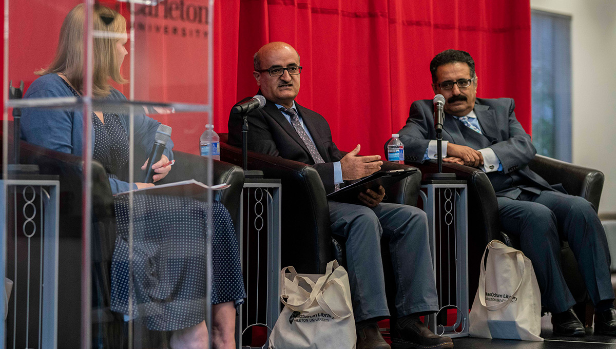 Prof. Bahran (Right) at a Scholars at Risk event in 2018