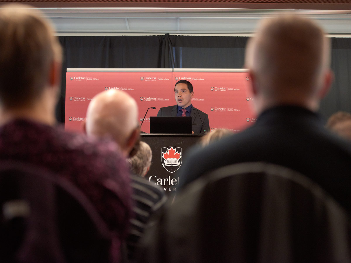 Natan Obed, president of the Inuit Tapiriit Kanatami, gave the 2018 Katherine Graham Lecture, on reimagining Canada's relationship with the Inuit on June 6.