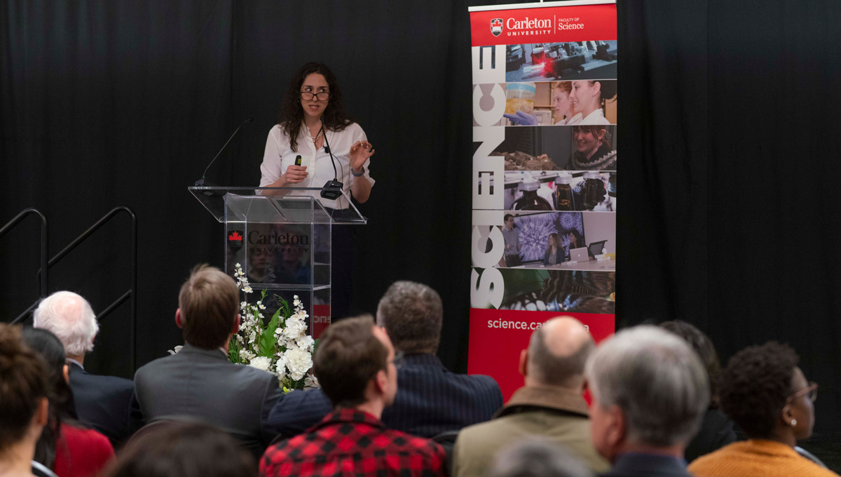 Natasha Loder, the Economist's health policy editor, delivered an address on how medicine is changing at the annual Discovery Lecture on Feb. 4, 2019.