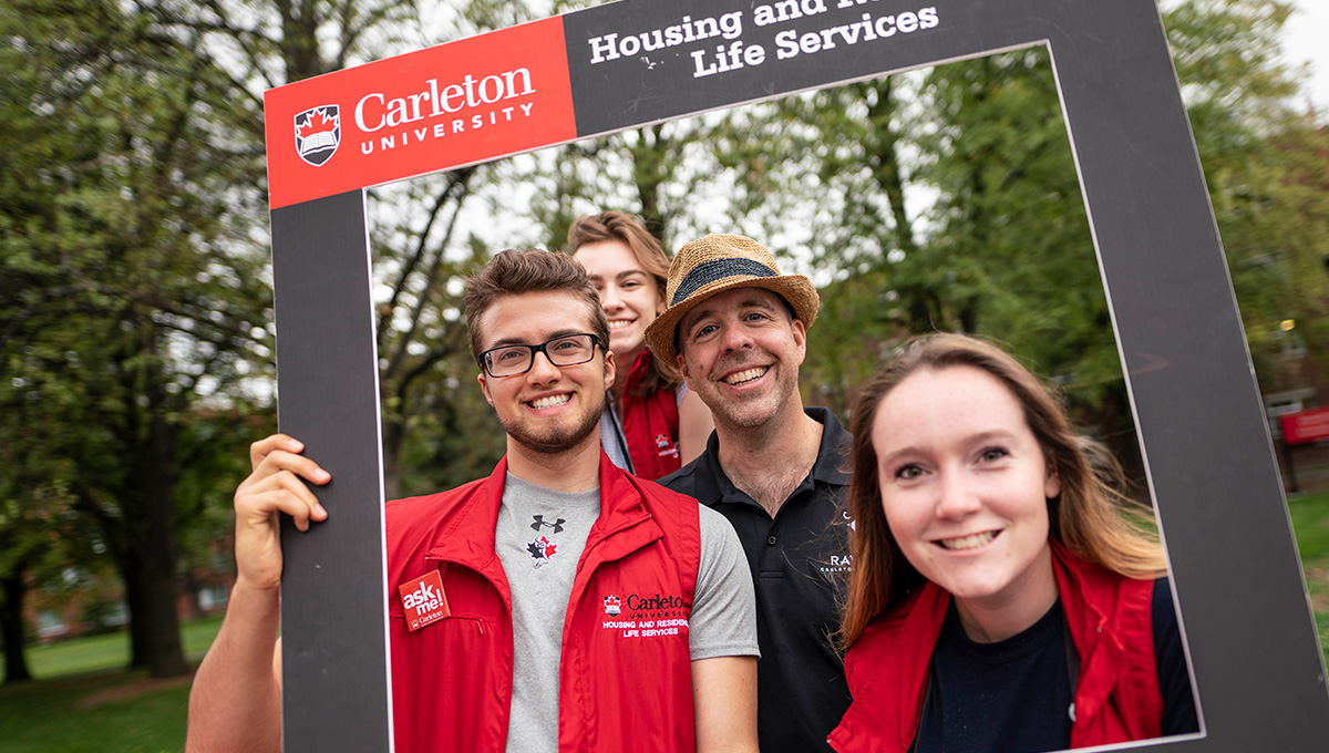 President Bacon at Residence Move-In