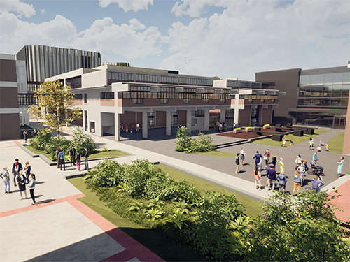 A design concept for the quad on the Carleton University campus