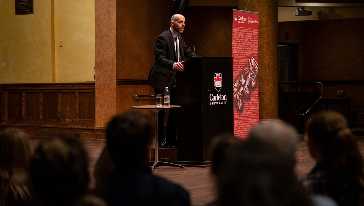 Carleton President Benoit-Antoine Bacon