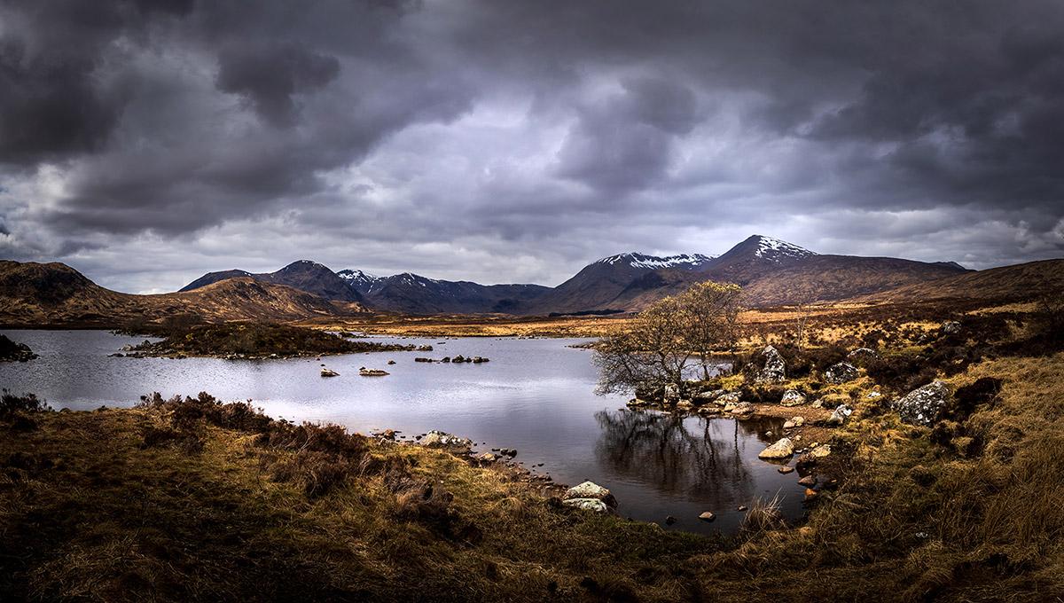 Rannoch Moor landscape, The Scottish Highlands, UK.