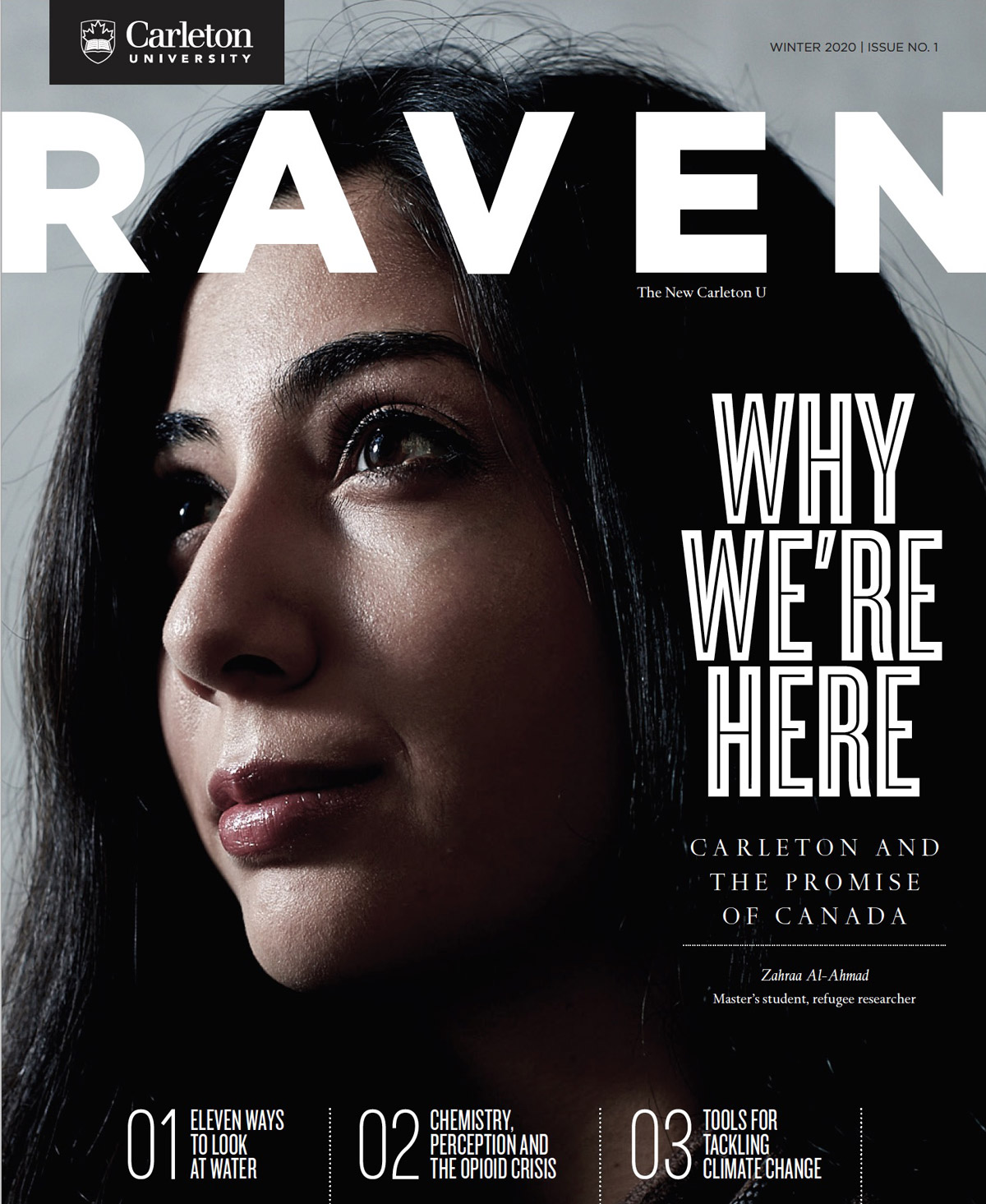 The Cover of the Winter 2020 edition of the Raven Magazine