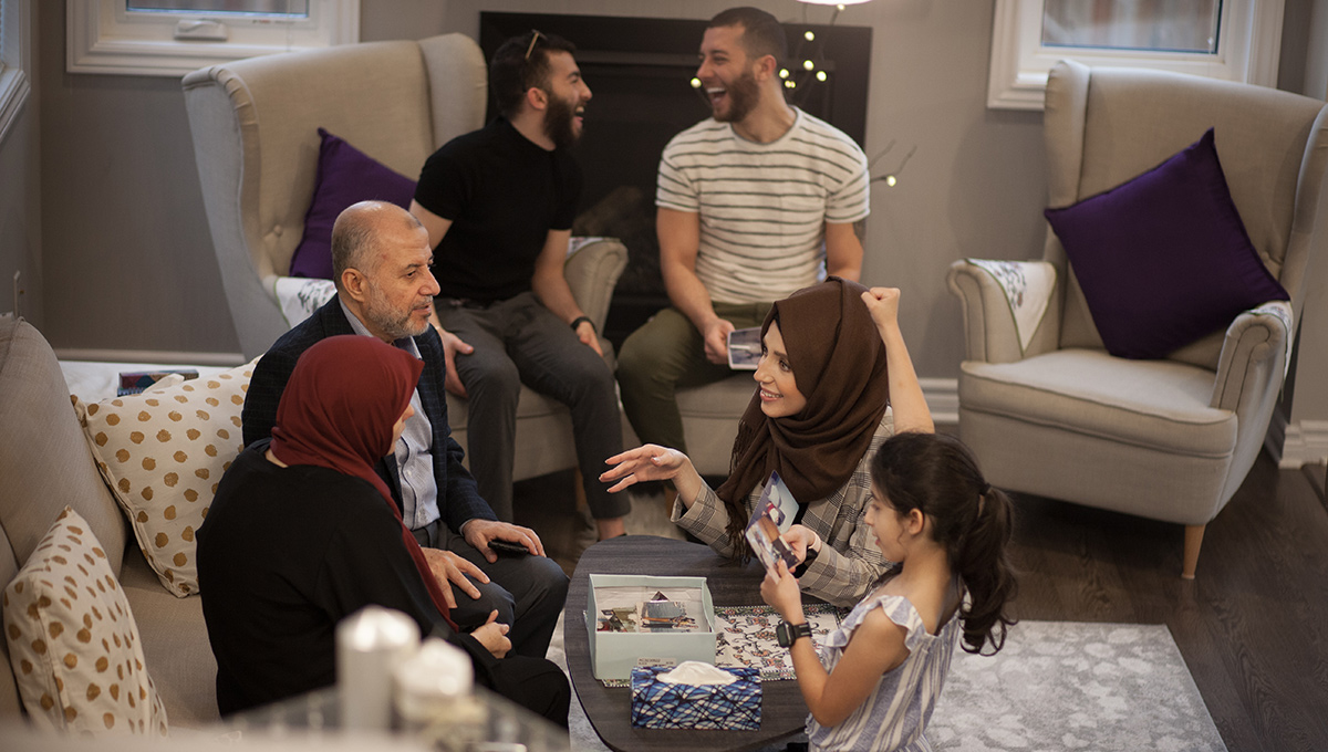 Rawan Alkurd with her family