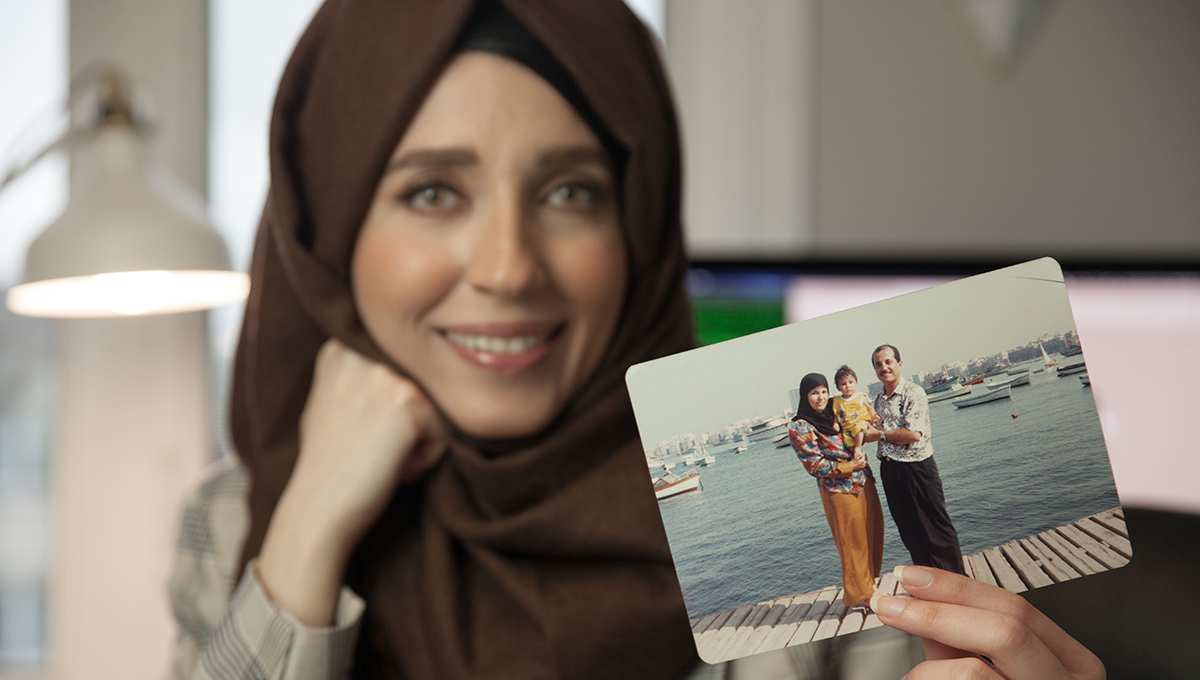 From Gadgets to Patents: Rawan shares a photo from her childhood