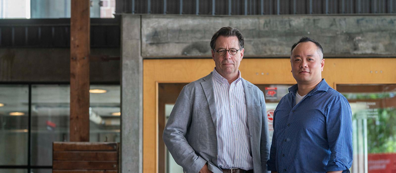 Photo of Calvin Tong and Prof. Benjamin Gianni of Carleton University.