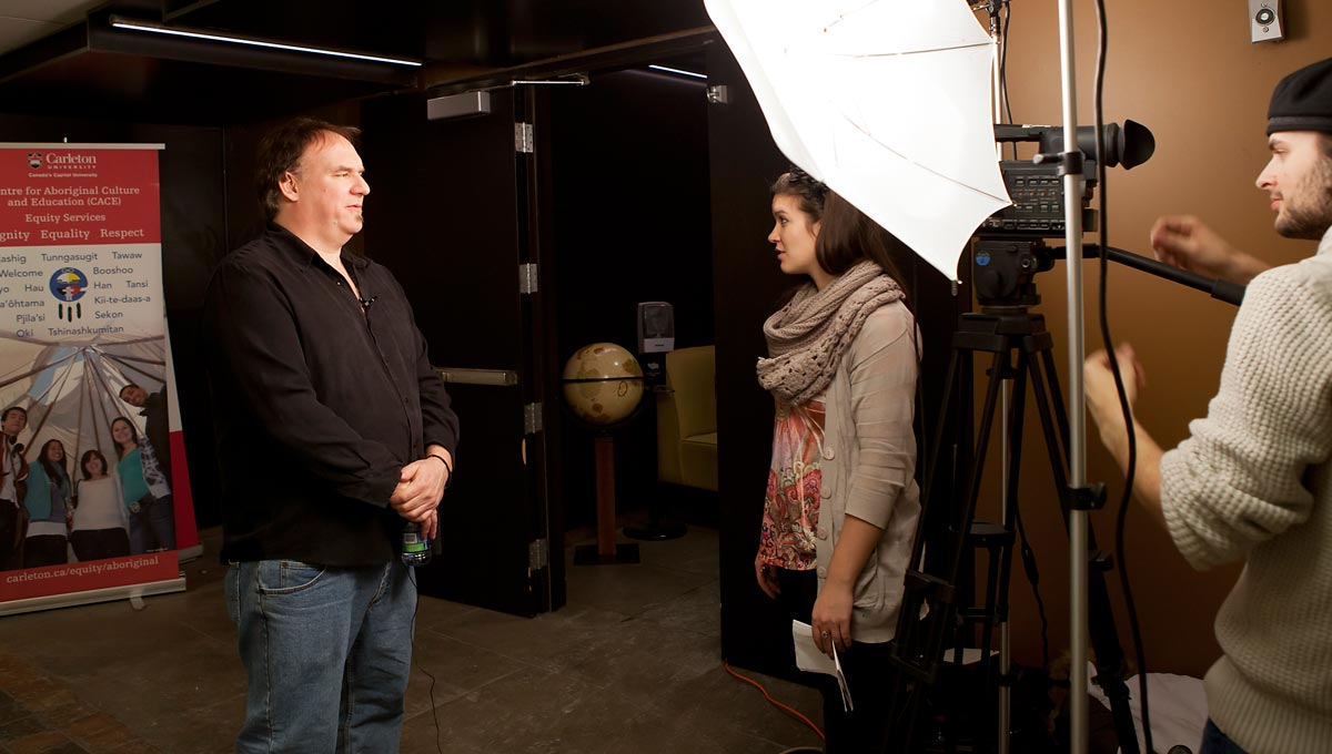 Truth and Reconciliation: Anishinaabe scholar Rodney Nelson who co-chairs both Carleton's Aboriginal Education Council and the council's TRC committee.