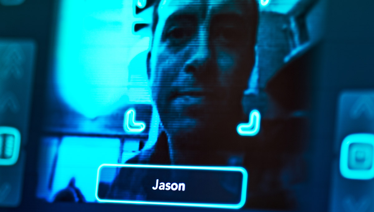 Jason Millar is recognized and identified through the eyes of a robot.
