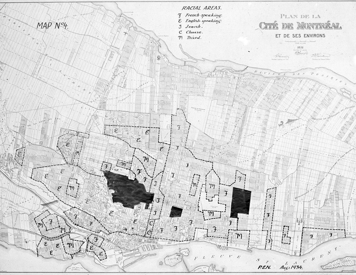 #3 Archives de la Ville de Montréal. RacialAreas (1934), VM97, S3, D01, P010.