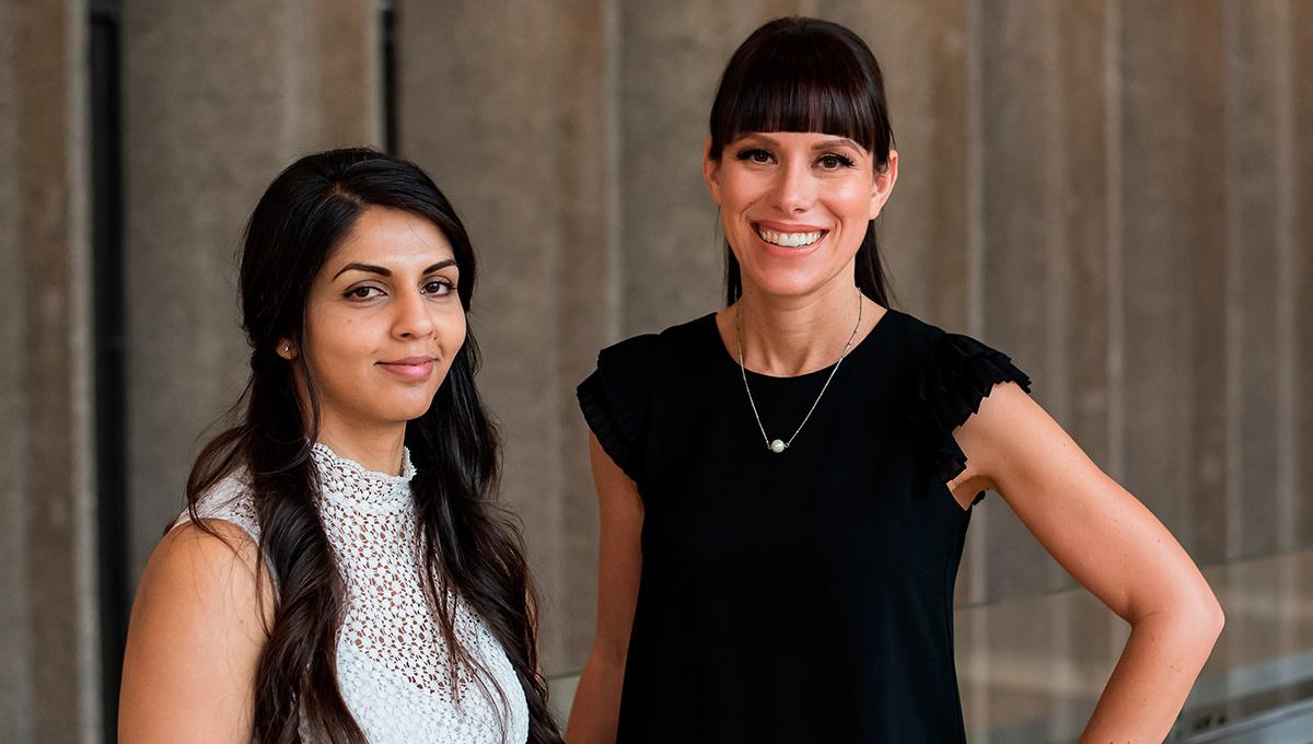 Photo of Sprott students Tas Damen and Emily Jones Joanisse.
