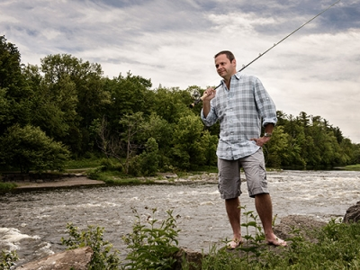 Photo for the news post: Carleton Researcher Investigates Recreational Fishing and Technology – When is it too Much?