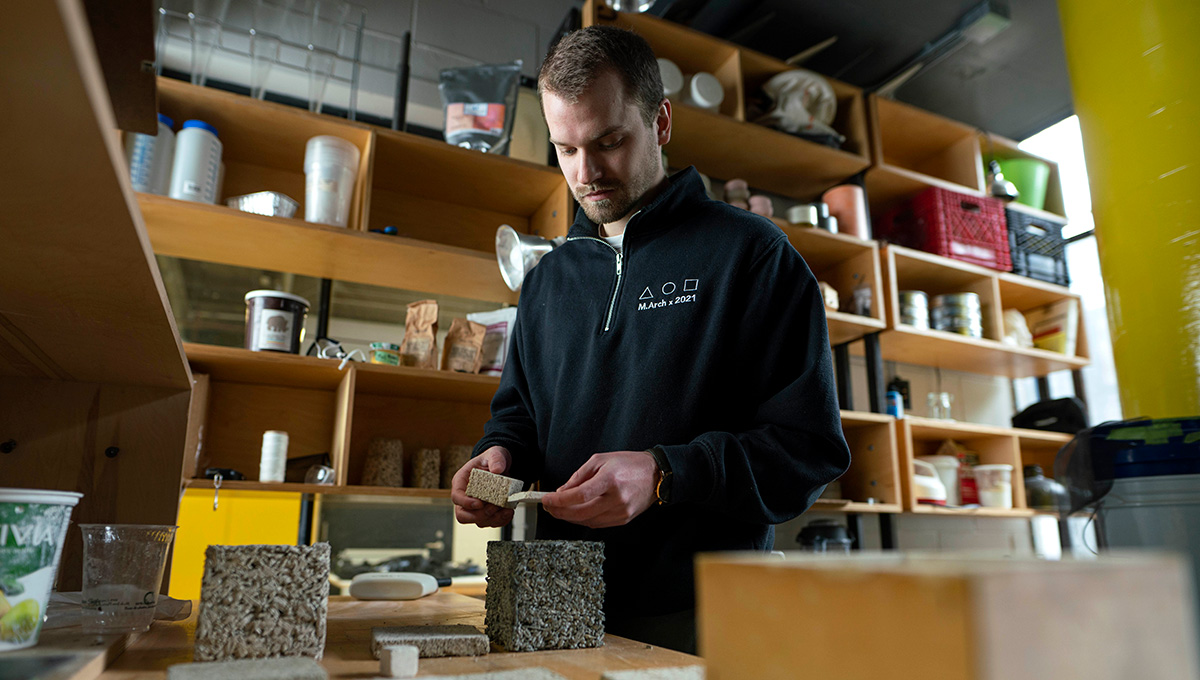 Hands-On Architecture: Carleton Students Back in the Lab Investigating Sustainable Building Materials