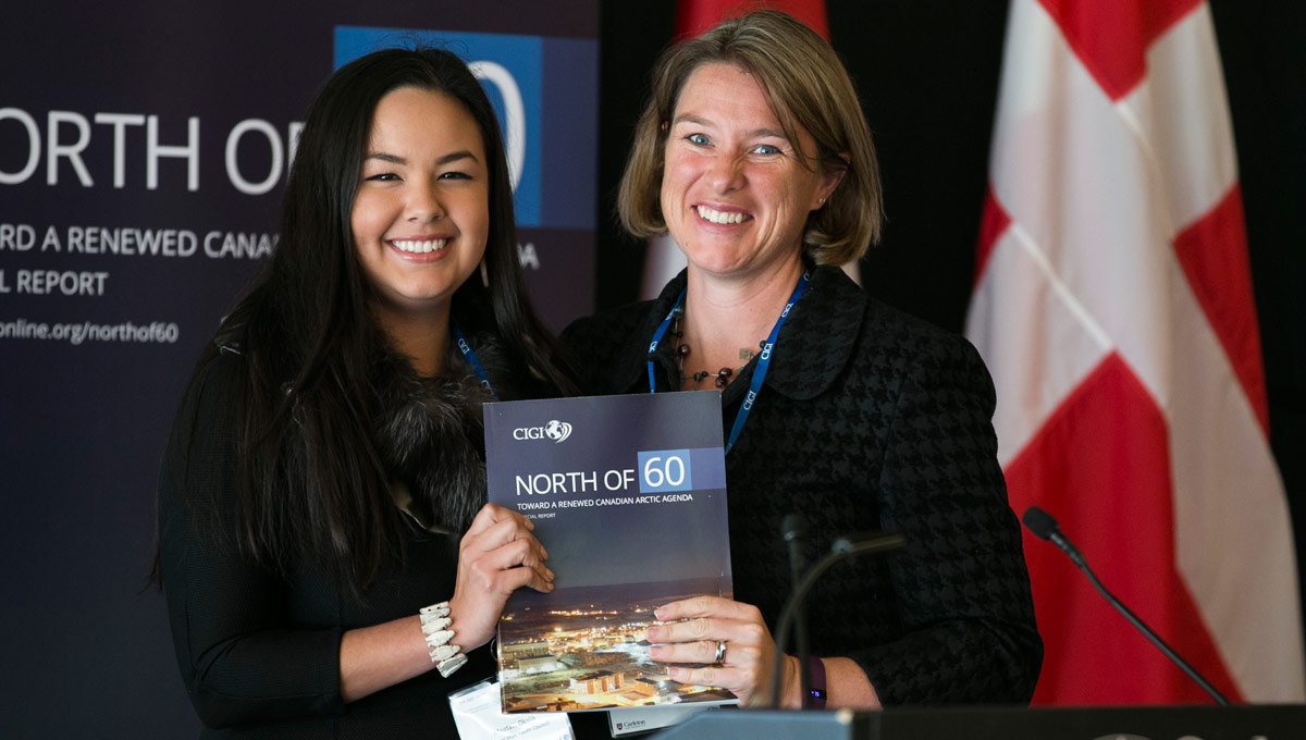 Arctic Council conference: Maatalii Okalik, president of the National Inuit Youth Council and Jennifer Spence, PhD candidate in the School of Public Policy and Administration