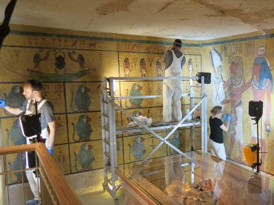 Photo for the news post: Documenting King Tut's Tomb