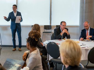 Photo for the news post: Diverse Perspectives of Carleton's Impact Shared at Board Committee Talk Exchange