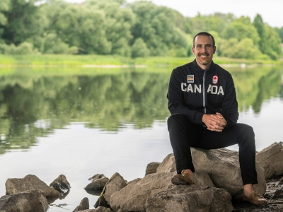 Photo for the news post: Olympian Turned Journalism Grad Finds a Home on the Other Side of the Microphone