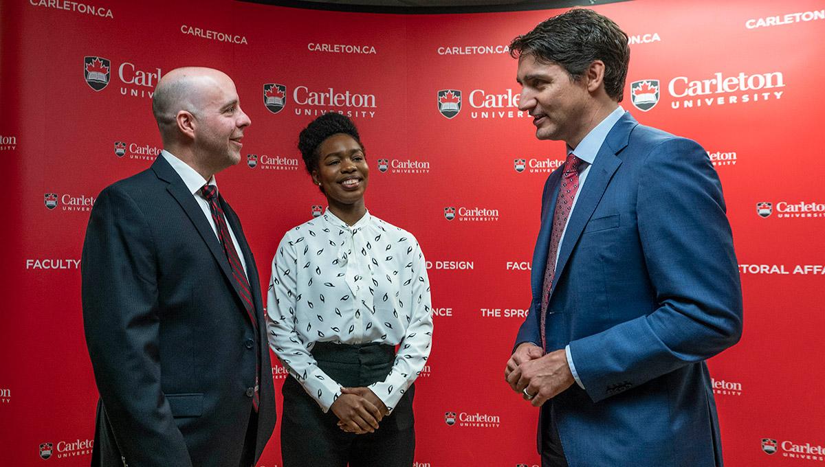 PM Trudeau Visits Summit at Carleton